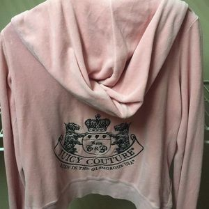 Juicy Couture velour zip hoodie